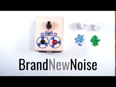 Shaka Khan by BrandNewNoise Instruments and Audio Recorders. This simple percussion instrument has record button, playback button, a knob to control the speed of your recording, and a switch to put the recording on a repeat loop