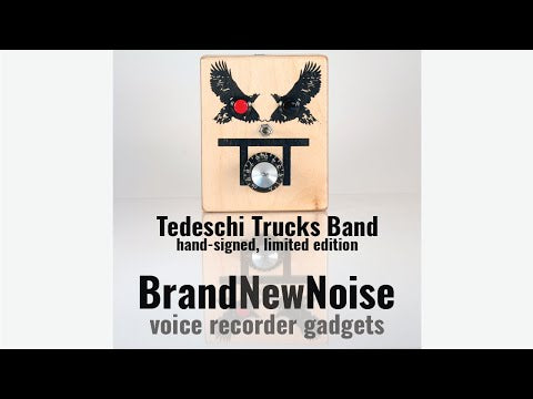 Tedeschi Trucks Band limited edition audio recorder by BrandNewNoise Instruments and Audio Recorders. Hand signed but Derek Trucks and Susan Tedeschi