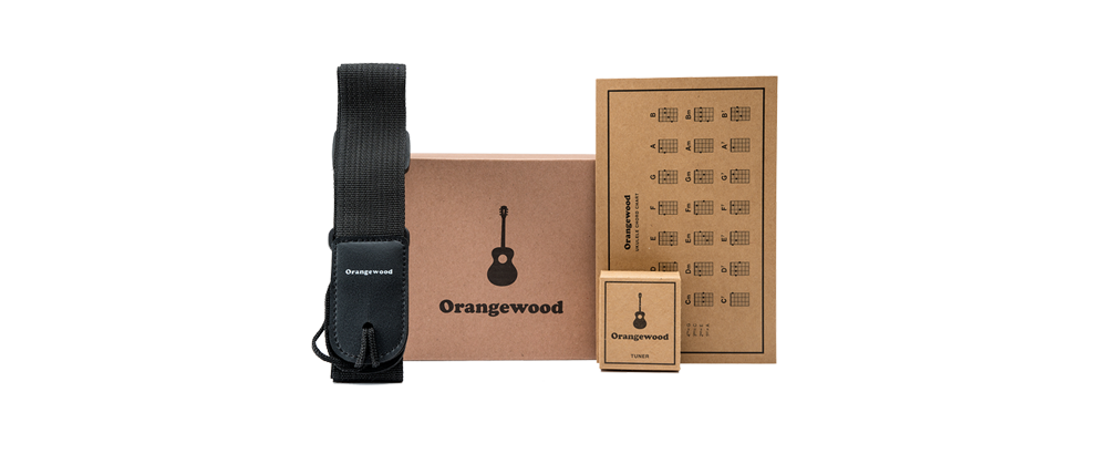 Orangewood ukulele accessory kit.