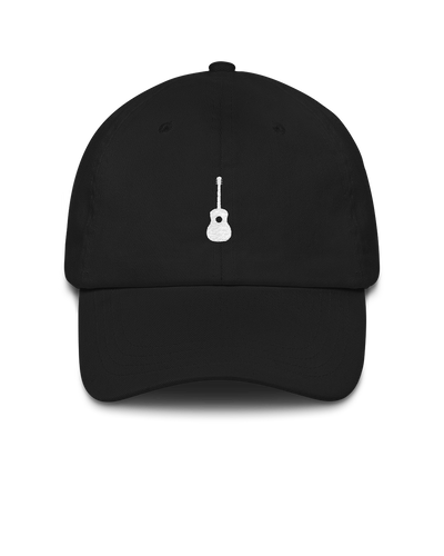 Guitar Dad Hat - Black