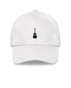 Guitar Dad Hat - White