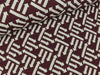 Jacquard-Jersey Right Direction bordeaux-meringa Hamburger Liebe