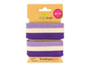 Stripe Me College Check Point Band glicine-meringa-viola