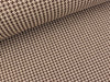 Hamburger Liebe Mini Jacquard Check Point Tweed Knit yemen-braun