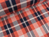 Hamburger Liebe 3 Farb-Jacquardjersey Check Point Sinclair blue navy-yemen-papaia