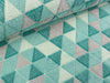 Kuschelfleece Triangles mint-petrol