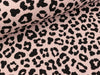 Happy Fleece Melange Print Animal schwarz-salmon