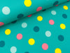 Softshell Bunte Dots auf Mint