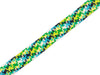1m Flachkordel Twist Me Check verde erba-lime-türkis-blue navy-weiß 24mm