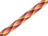 1m Flachkordel Twist Me Check bordeaux-curry-ortensia-brucciato-weiß 24mm