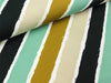 French Terry Diagonally mint-ocker-beige-weiß-schwarz by Lycklig Design