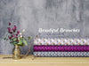 Baumwollcanvas Beautiful Branches beere-violett by Lycklig Design