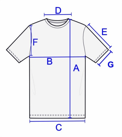 BARON guide des tailles tee-shirt