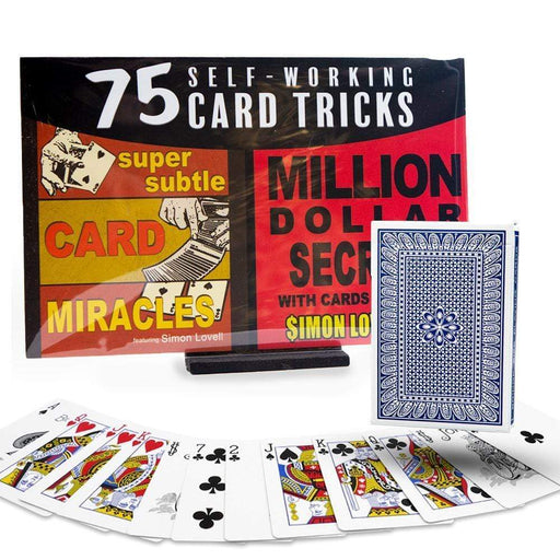 75 Self Working Card Tricks Kit - Magic Makers