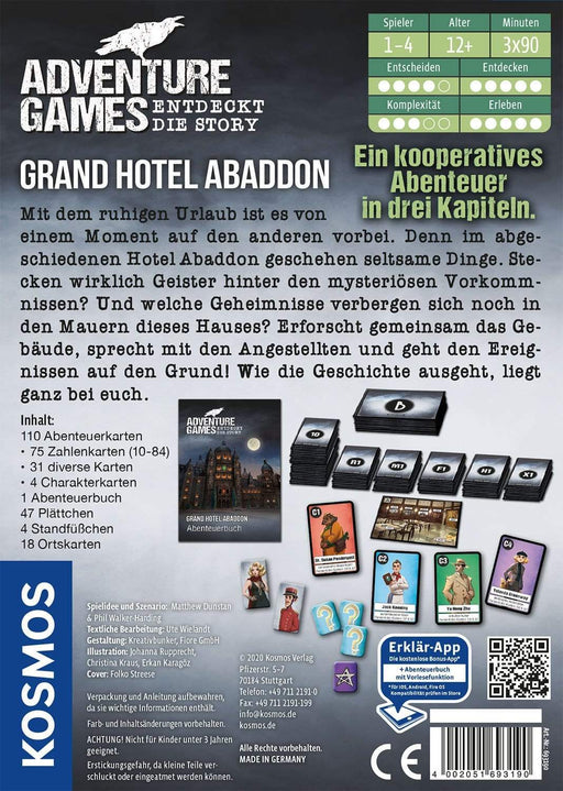 Adventure Games - Grand Hotel Abaddon - Deinparadies.ch