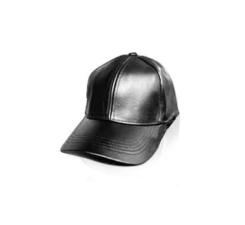 Black Leather Cap