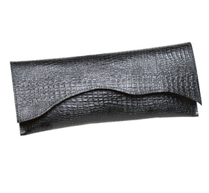 Alligator Embossed Clutch
