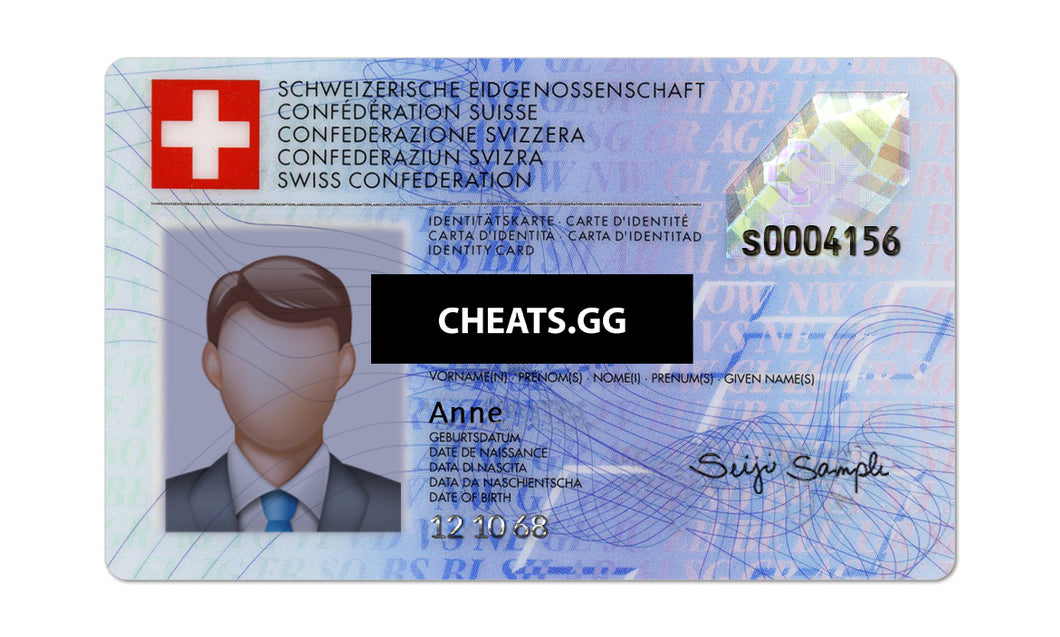Switzerland ID Card PSD Template
