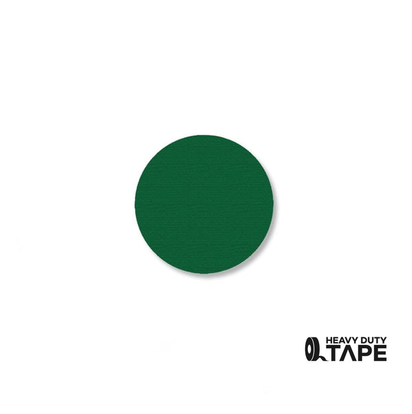 "1"" GREEN Solid DOT - Pack of 200 - FloorTapeOutlet.com"