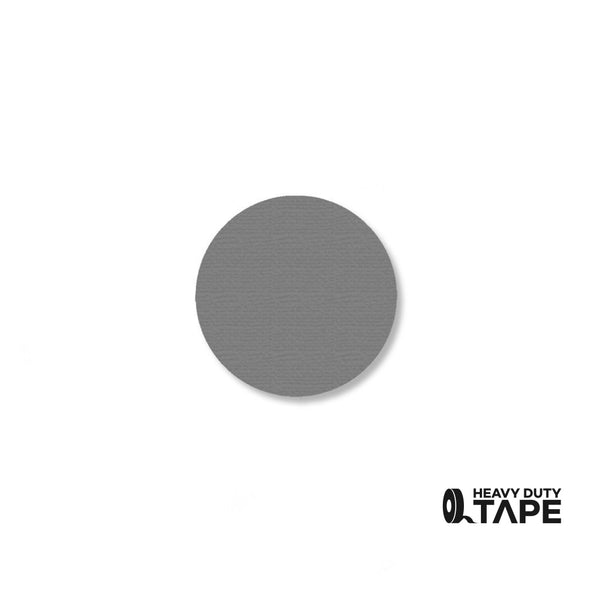 "1"" GRAY Solid DOT - Pack of 200 - FloorTapeOutlet.com"