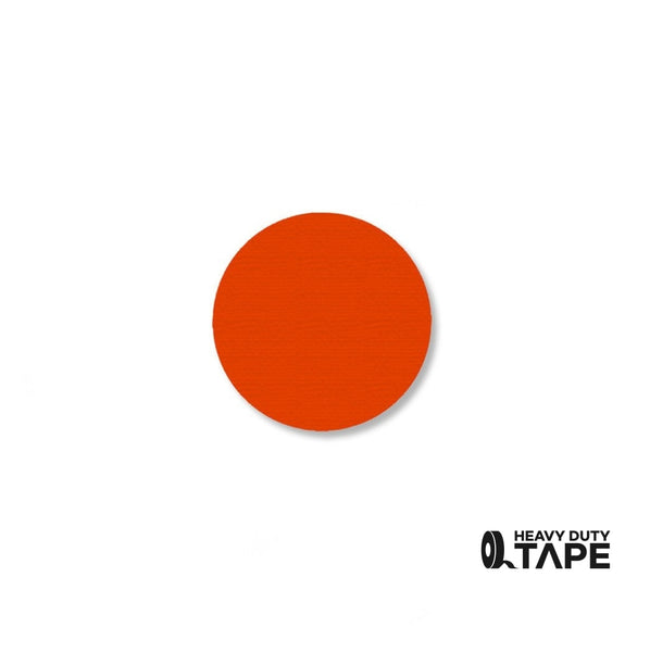 "1"" ORANGE Solid DOT - Pack of 200 - FloorTapeOutlet.com"