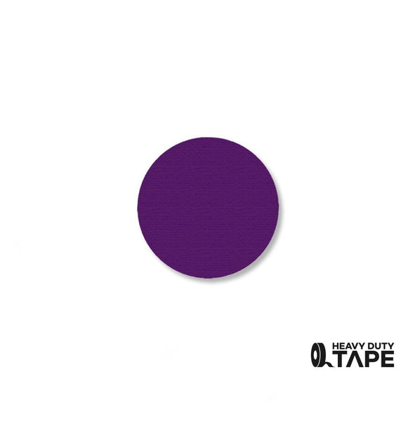 "1"" PURPLE Solid DOT - Pack of 200 - FloorTapeOutlet.com"
