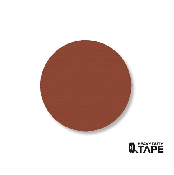 "2.7"" BROWN Solid DOT - Pack of 100 - FloorTapeOutlet.com"