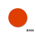 "2.7"" ORANGE Solid DOT - Pack of 100 - FloorTapeOutlet.com"