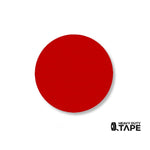 "2.7"" RED Solid DOT - Pack of 100 - FloorTapeOutlet.com"