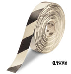 "2"" White Tape with Black Chevrons - 100' Roll - FloorTapeOutlet.com"