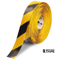 "2"" Yellow Tape with Black Chevrons - 100' Roll - FloorTapeOutlet.com"