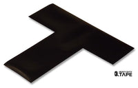 "2"" Wide Solid BLACK T - Pack of 25 - FloorTapeOutlet.com"