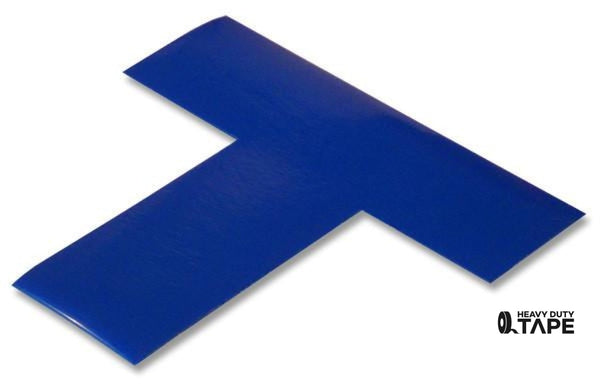 "2"" Wide Solid BLUE T - Pack of 25 - FloorTapeOutlet.com"