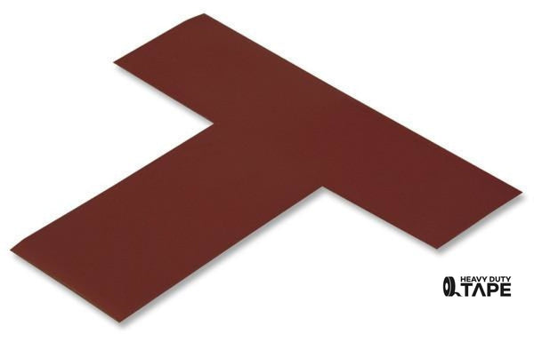 "2"" Wide Solid BROWN T's - Pack of 25 - FloorTapeOutlet.com"
