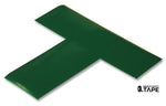 "2"" Wide Solid GREEN T - Pack of 25 - FloorTapeOutlet.com"