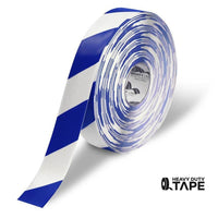 Mighty Line Diagonal Floor Tape 2 Inch White/blue 100 Roll Product