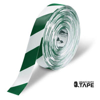 Mighty Line Diagonal Floor Tape 2 Inch White/green 100 Roll Product