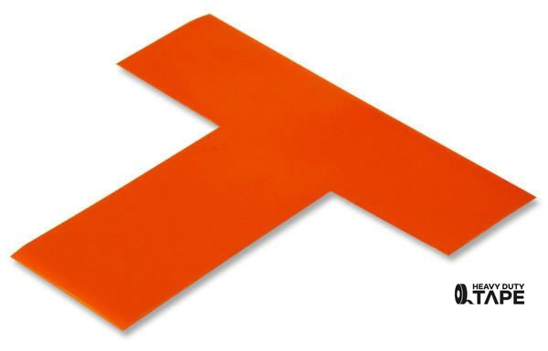 "2"" Wide Solid ORANGE T - Pack of 25 - FloorTapeOutlet.com"