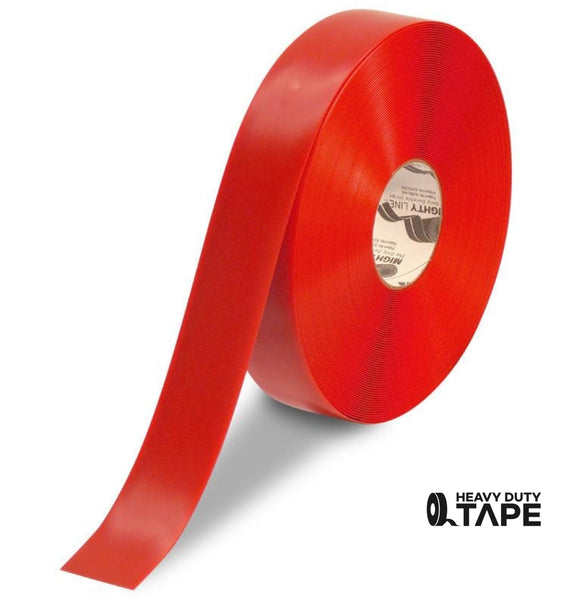 "2"" RED Solid Color Tape - 100' Roll - FloorTapeOutlet.com"