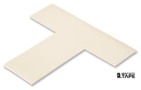"2"" Wide Solid WHITE T - Pack of 25 - FloorTapeOutlet.com"