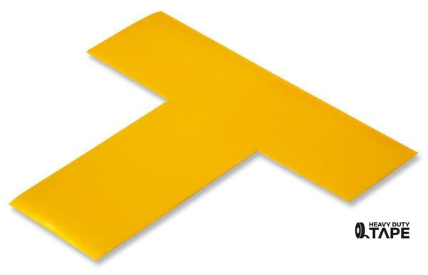 "2"" Wide Solid YELLOW T - Pack of 25 - FloorTapeOutlet.com"