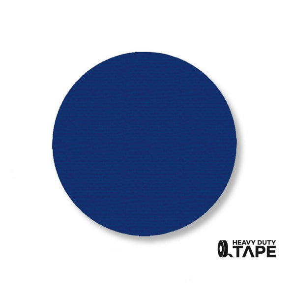"3.5"" BLUE Solid DOT (Standard Size) Pack of 100 - FloorTapeOutlet.com"