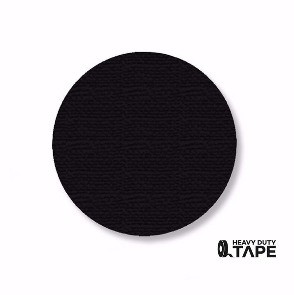 "3.5"" BLACK Solid DOT (Standard Size) Pack of 100 - FloorTapeOutlet.com"