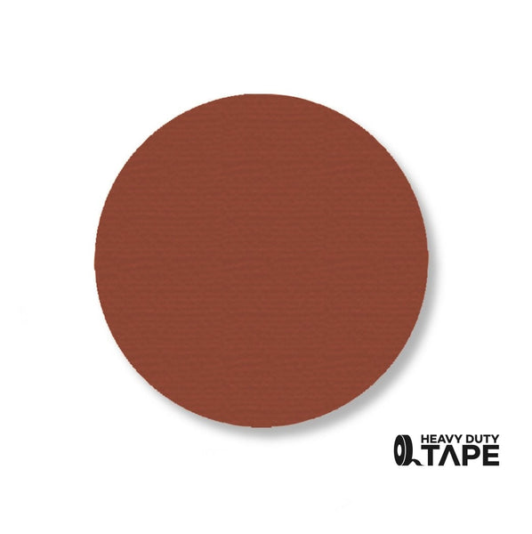 "3.5"" BROWN Solid DOT (Standard Size) Pack of 100 - FloorTapeOutlet.com"
