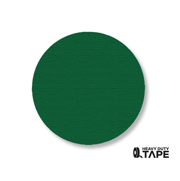 "3.5"" GREEN Solid DOT (Standard Size) Pack of 100 - FloorTapeOutlet.com"