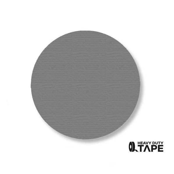 "3.5"" GRAY Solid DOT (Standard Size) Pack of 100 - FloorTapeOutlet.com"