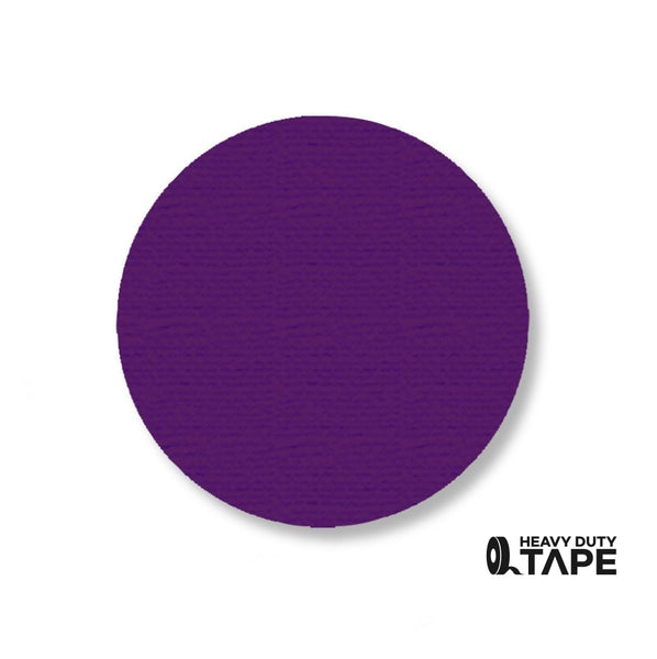 "3.5"" Purple Solid DOT (Standard Size) Pack of 100 - FloorTapeOutlet.com"