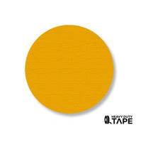 "3.5"" YELLOW Solid DOT (Standard Size) Pack of 100 - FloorTapeOutlet.com"