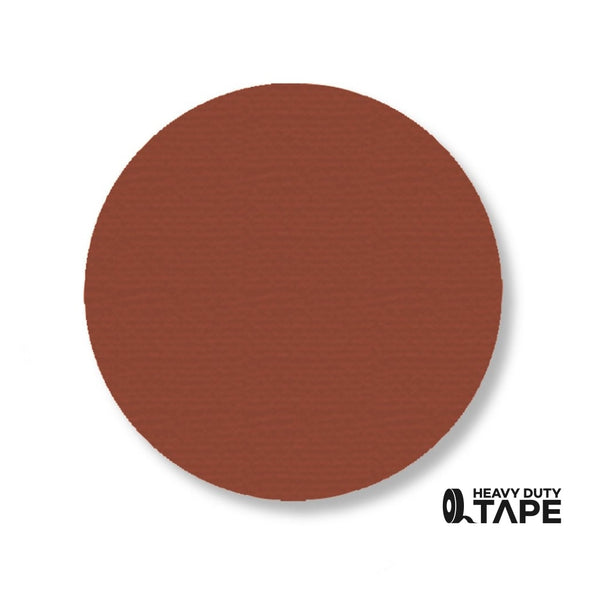 "3.75"" BROWN Solid DOT - Pack of 100 - FloorTapeOutlet.com"