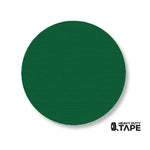"3.75"" GREEN Solid DOT - Pack of 100 - FloorTapeOutlet.com"